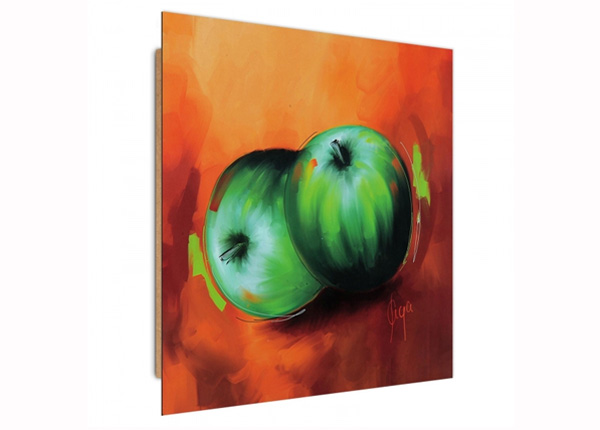 Seinapilt Green apples 3D 30x30 cm
