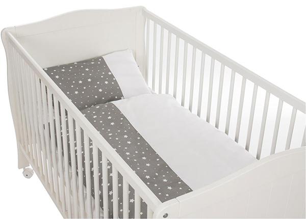 Vauvan pussilakanasetti tähdet, harmaa