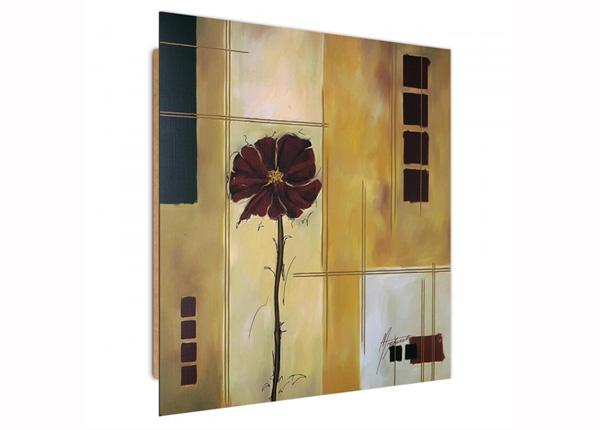 Seinapilt Burgundy flower 1 3D 30x30 cm ED-194725