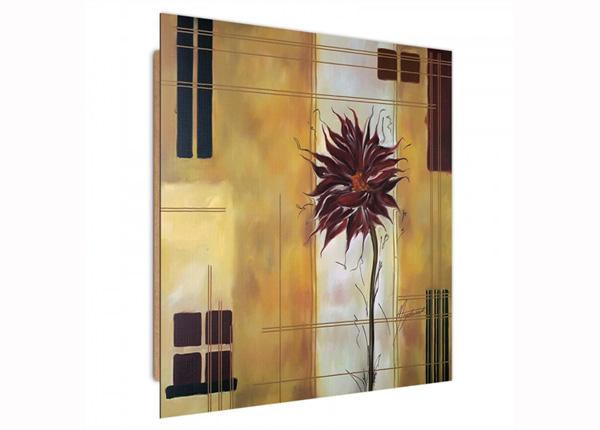 Seinapilt Burgundy flower 3D 30x30 cm ED-194726