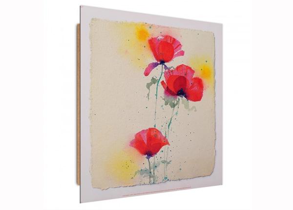 Seinapilt Poppies 1 3D 30x30 cm ED-194734