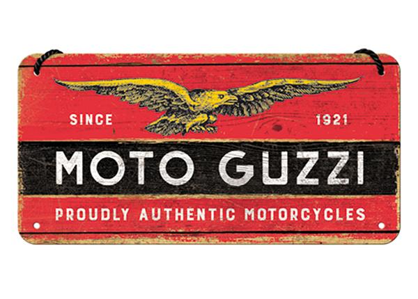 Retro metallijuliste Moto Guzzi 10x20 cm SG-194918