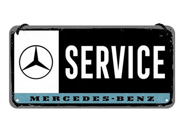 Retro metallposter Mercedes-Benz Service 10x20 cm SG-194928
