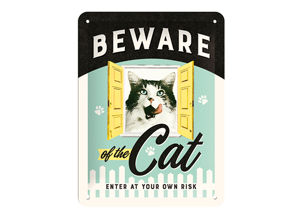 Vintage poster Beware of the Cat 15x20 cm SG-194933