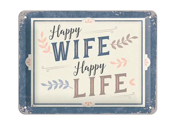 Vintage poster Happy Wife Happy Life 15x20 cm SG-194948