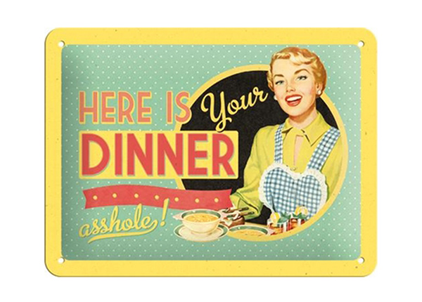 Vintage poster Here is your dinner... 15x20 cm SG-194951