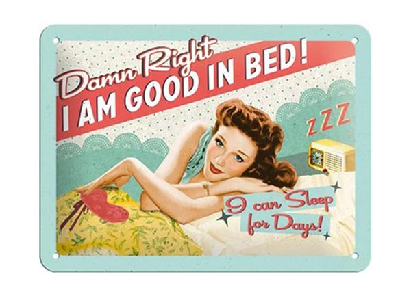 Vintage poster I am good in bed... 15x20 cm SG-194953