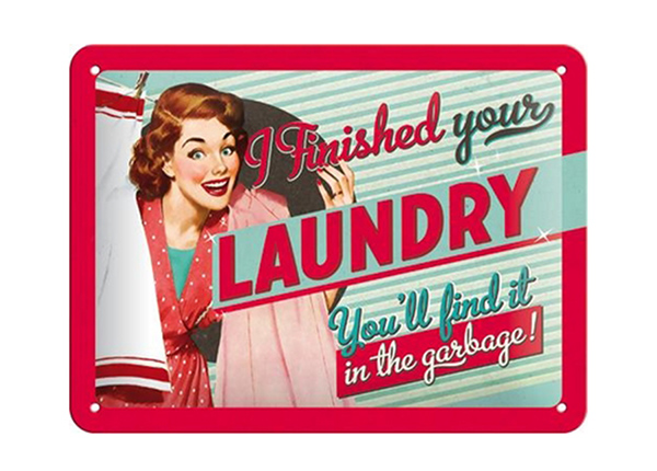 Vintage poster I finished your laundry... 15x20 cm SG-194956