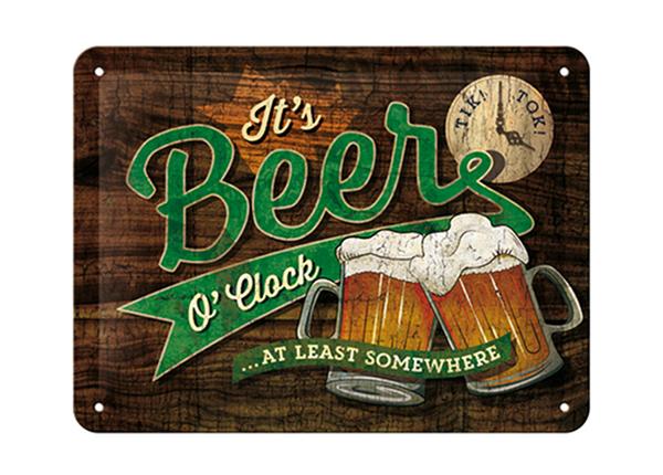 Vintage poster It's Beer O'Clock... 15x20 cm SG-194957