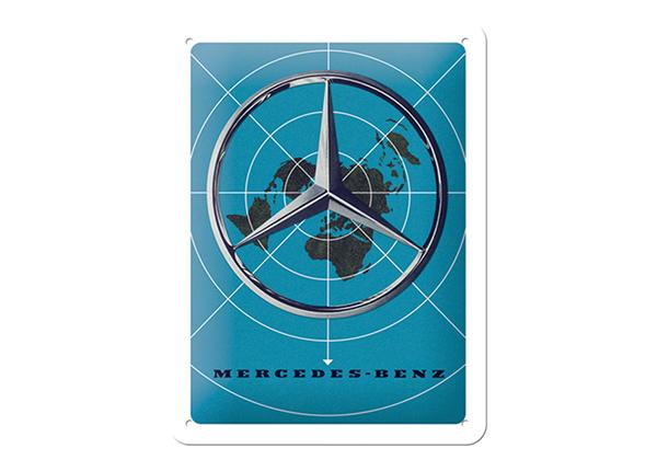 Металлический постер в ретро-стиле Mercedes-Benz logo 15x20 см SG-195048
