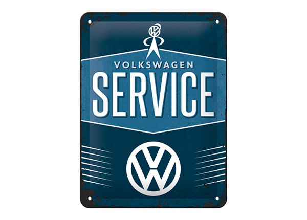 Металлический постер в ретро-стиле VW Service 15x20 см SG-195082