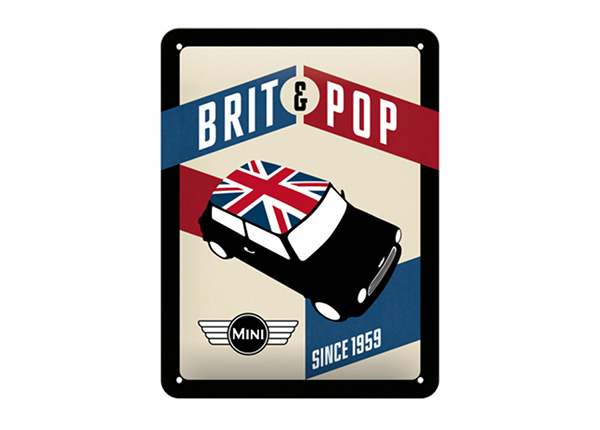 Retro metallposter Mini Brit & Pop 15x20 cm SG-195085