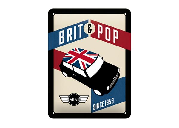 Металлический постер в ретро-стиле Mini Brit & Pop 15x20 см SG-195085