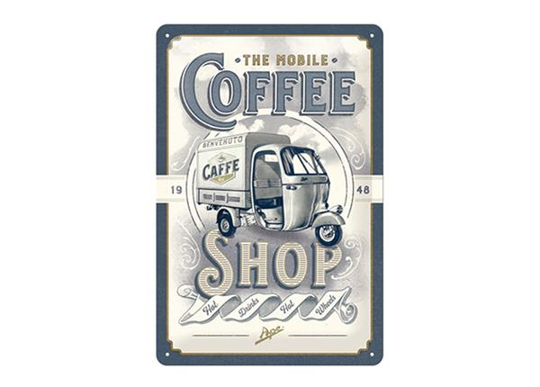 Retro metallposter The Mobile Coffee Shop 20x30 cm SG-195087