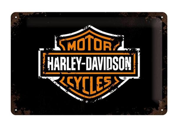 Металлический постер Harley-Davidson logo 20x30 см SG-195092
