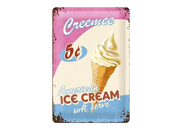 Металлический постер в ретро-стиле Ice Cream 20x30 см SG-195095