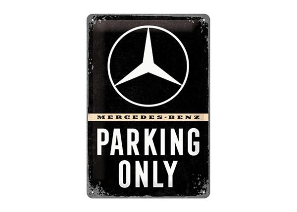 Retro metallposter Mercedes-Benz Parking Only 20x30 cm SG-195098