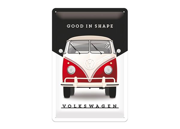 Металлический постер в ретро-стиле VW Bulli Good in Shape 20x30 см SG-195127