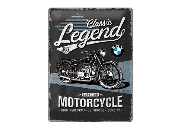 Металлический постер в ретро-стиле BMW Classic Legend 30x40 см SG-195194