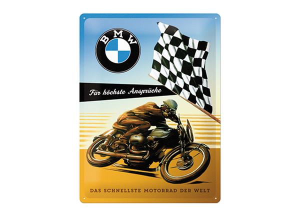 Металлический постер в ретро-стиле BMW Für höchste Ansprüche 30x40 см SG-195195