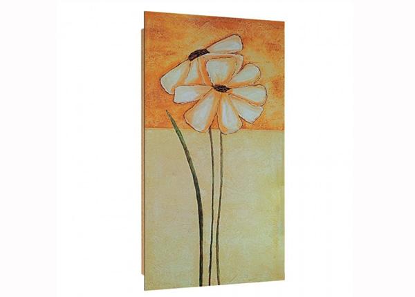 Seinapilt Painted daisies 1 3D 50x100 cm