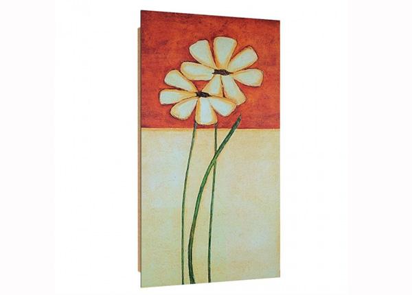 Seinapilt Painted daisies 3D 50x100 cm