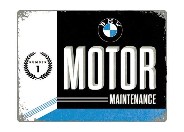 Retro metallposter BMW Motor Maintenance 30x40 cm SG-195240