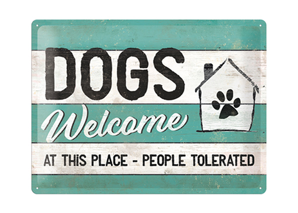 Retro metallposter Dogs Welcome 30x40 cm SG-195249