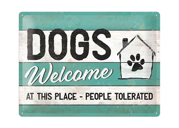 Металлический постер в ретро-стиле Dogs Welcome 30x40 см SG-195249