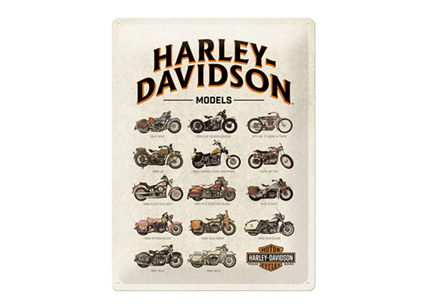 Металлический постер в ретро-стиле Harley-Davidson Models 30x40 см SG-195265