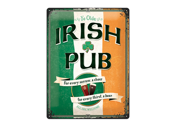 Retro metallposter Irish Pub 30x40 cm SG-195269
