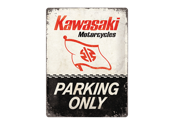 Retro metallposter Kawasaki Parking Only 30x40 cm SG-195271