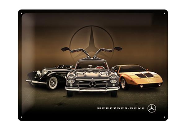 Металлический постер в ретро-стиле Mercedes-Benz kolm autot 30x40 см SG-195275