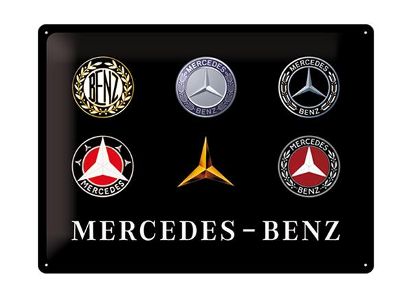 Retro metallposter Mercedes-Benz logo 30x40 cm SG-195279