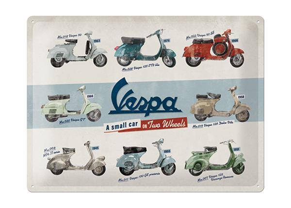 Retro metallposter Vespa mallit 30x40 cm SG-195286