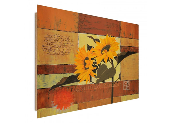 Seinätaulu Painted sunflowers 3D 98x68 cm ED-195293