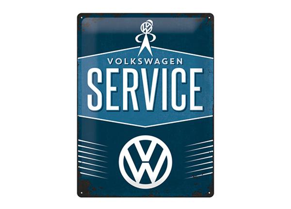 Retro metallijuliste VW Service 30x40 cm SG-195298