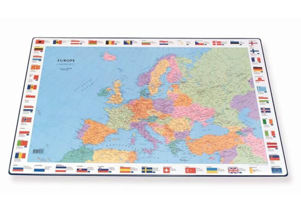 Настольный мат с картой Европы 44x63 cm