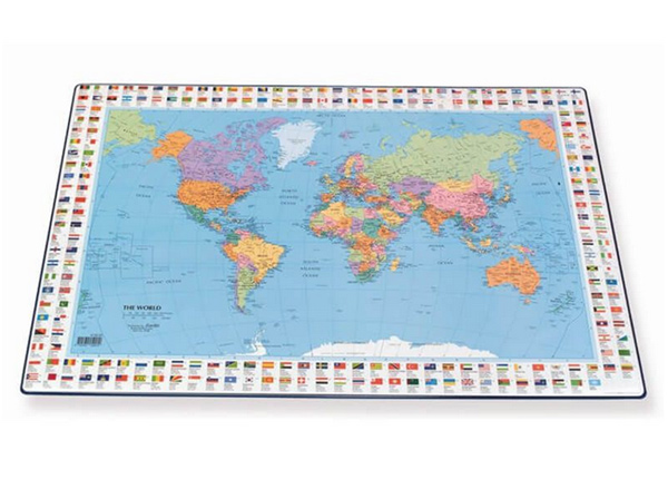 Настольный мат с картой мира 44x63 cm