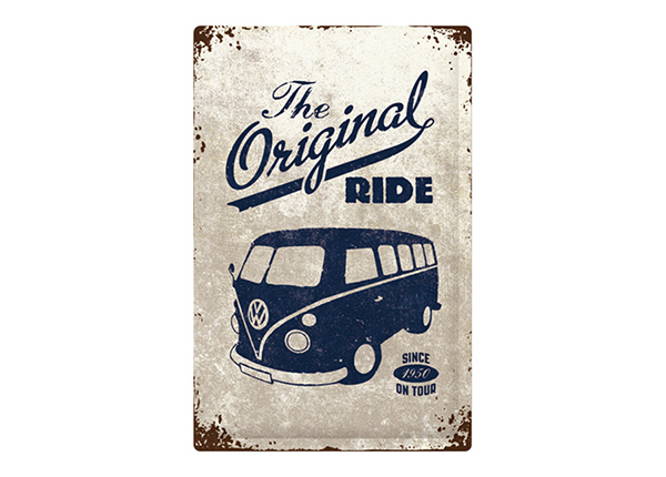 Retro metallposter VW Bulli The Original Ride 40x60 cm