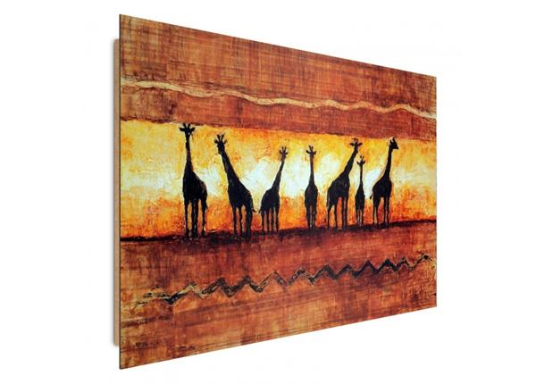 Seinätaulu A herd of giraffes 3D 98x68 cm