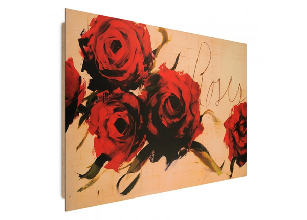 Seinätaulu Painted Roses 3D 98x68 cm ED-195333