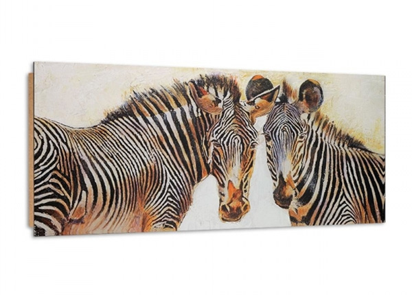 Seinätaulu Painted Zebras 3D 100x50 cm ED-195340