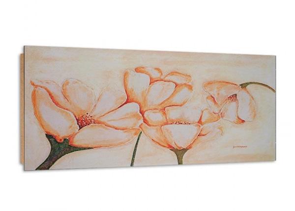 Seinätaulu White Poppies 3D 100x50 cm ED-195342