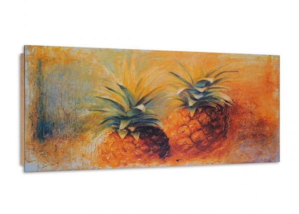 Seinätaulu Two painted pineapples 3D 100x50 cm ED-195354
