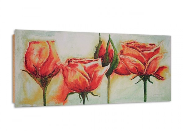 Seinätaulu Roses in bloom 3D 100x50 cm ED-195362