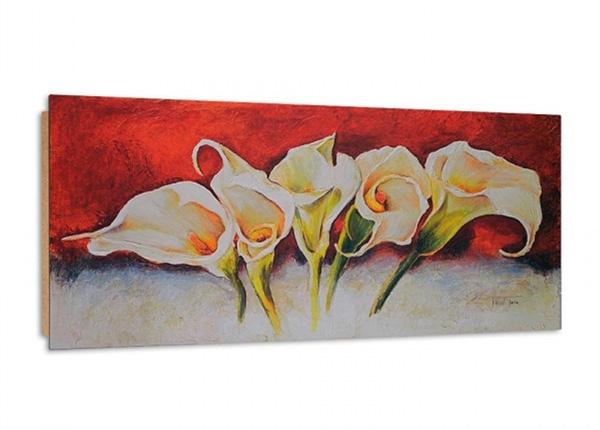 Seinätaulu White callas 3D 100x50 cm ED-195363