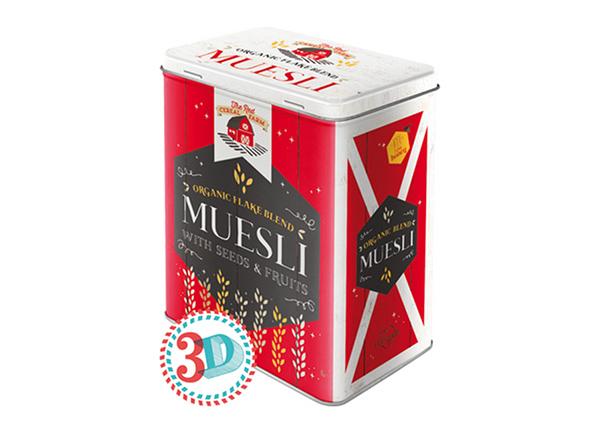 Жестяная коробка Muesli 3 л