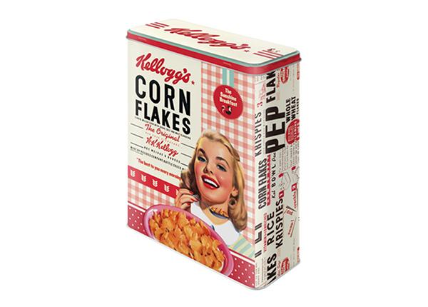 Жестяная коробка Kellogg's Corn Flakes Collage tüdruk 4 л
