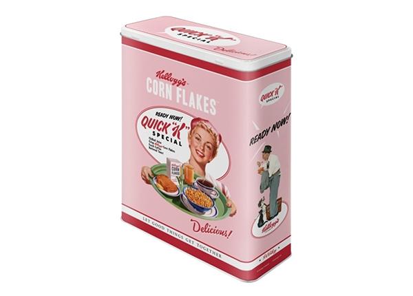 Жестяная коробка Kellogg's Quick K Menu pink 4 л